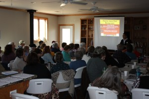 We learned that 60 people is about the most we can fit into the gathering room of tho lodge. Cozy!
