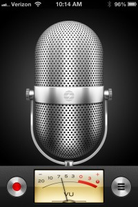 voice memos screen