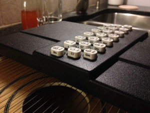 chords on sides of buttons