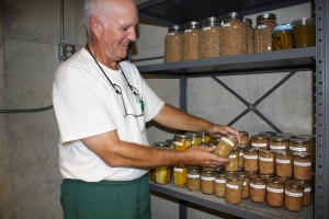 As we do with all our canned stock, we labeled the apple jam and placed it immediately in the root cellar.
