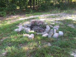 fire pit before for site